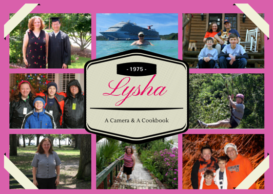 All about the owner of A Camera & A Cookbook: Lysha