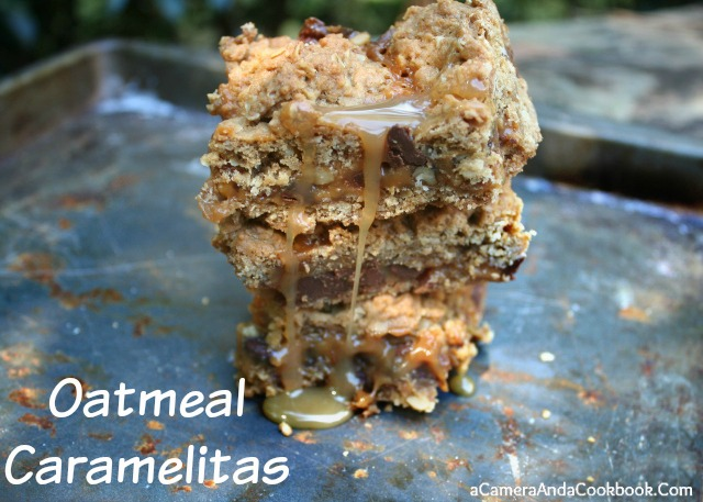 These super easy, oh, so delicious bars :: Oatmeal Caramelitas  :: Another must try by Lysha @ A Camera & A Cookbook