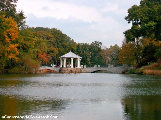 Bridge over Lake Clara Meer at Piedmont Park Atlanta, GA