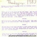 Thanksgiving Recipes by an 8 year old