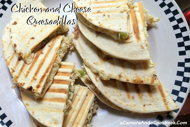Chicken & Cheese Quesadillas - So easy, healthy, and delish!