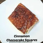 Cinnamon Cheesecake Squares (SQ)
