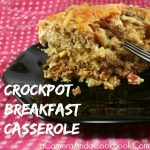 Crockpot Breakfast Casserole - Wouldn't it be nice to wake up to a nice warm breakfast? This crockpot breakfast casserole is perfect just for that very reason.