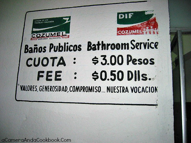 Mexico Paying for Bathroom
