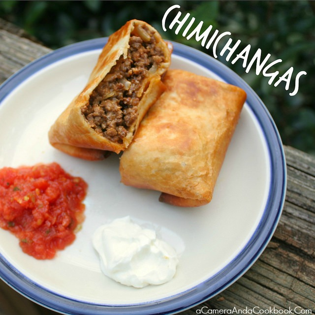 Chimichangas -  Hey all y'all Mexican food lovers out there.  Looking for a new recipe to add to those tacos and enchiladas?  These Chimichangas will have your family smiling!