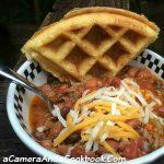 Crockpot_Chili_With_Cornbread_Waffle
