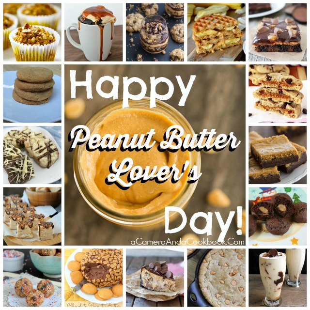 Happy Peanut Butter Lover's Day! Here's a list of 25 amazing peanut butter recipes!