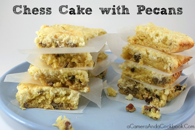 Chess Cake with Pecans is one of my favorite easy go-to desserts.
