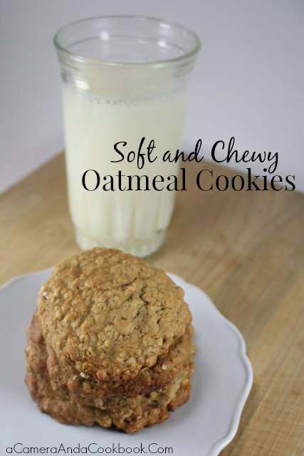 Oatmeal Cookies {Soft & Chewy} - Looking for soft and chewy oatmeal cookie recipe? These are easy to make and soft and chewy without being too crumbly.