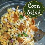 Corn Salad - I have always enjoyed corn, but sometimes it's fun to change it up some. I wanted a corn dish that could be served as a cold salad. This corn salad is so simple and can be made ahead of time. This is perfect for a potluck.