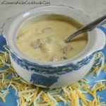 Cheesy Potato Soup - prepare in the crockpot and come home to a nice warm meal!