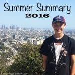 Summer Summary 2016