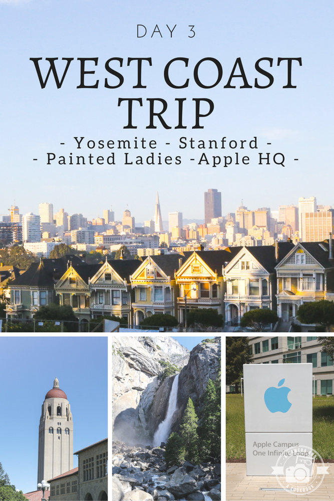 West Coast Trip - Day 3 - Travel along as we leave Yosemite to Cupertino (Apple HQ), Stanford U, Painted Ladies, and more.