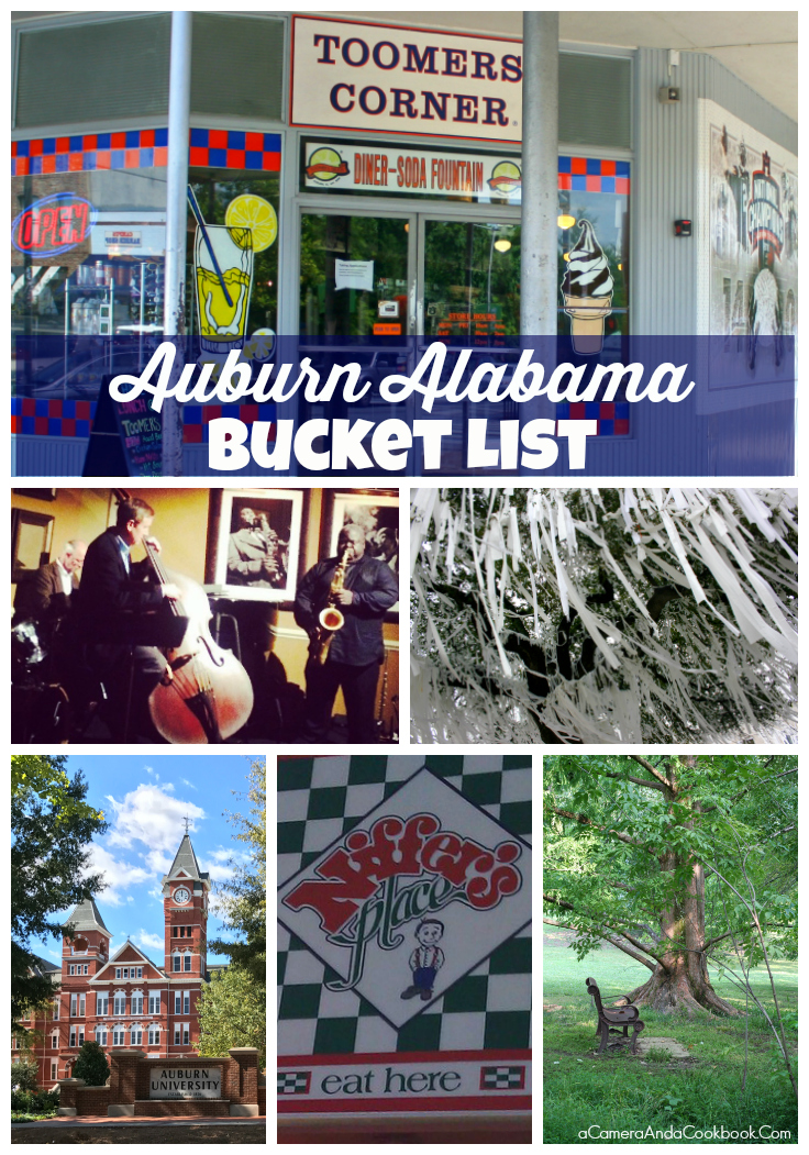 Auburn Alabama Bucket List - If you're planning to come to Auburn, Alabama, there are some really cool things to do without even leaving the area. Here's my Auburn Alabama Bucket List of a few of the best things to do while you're on the Plains.