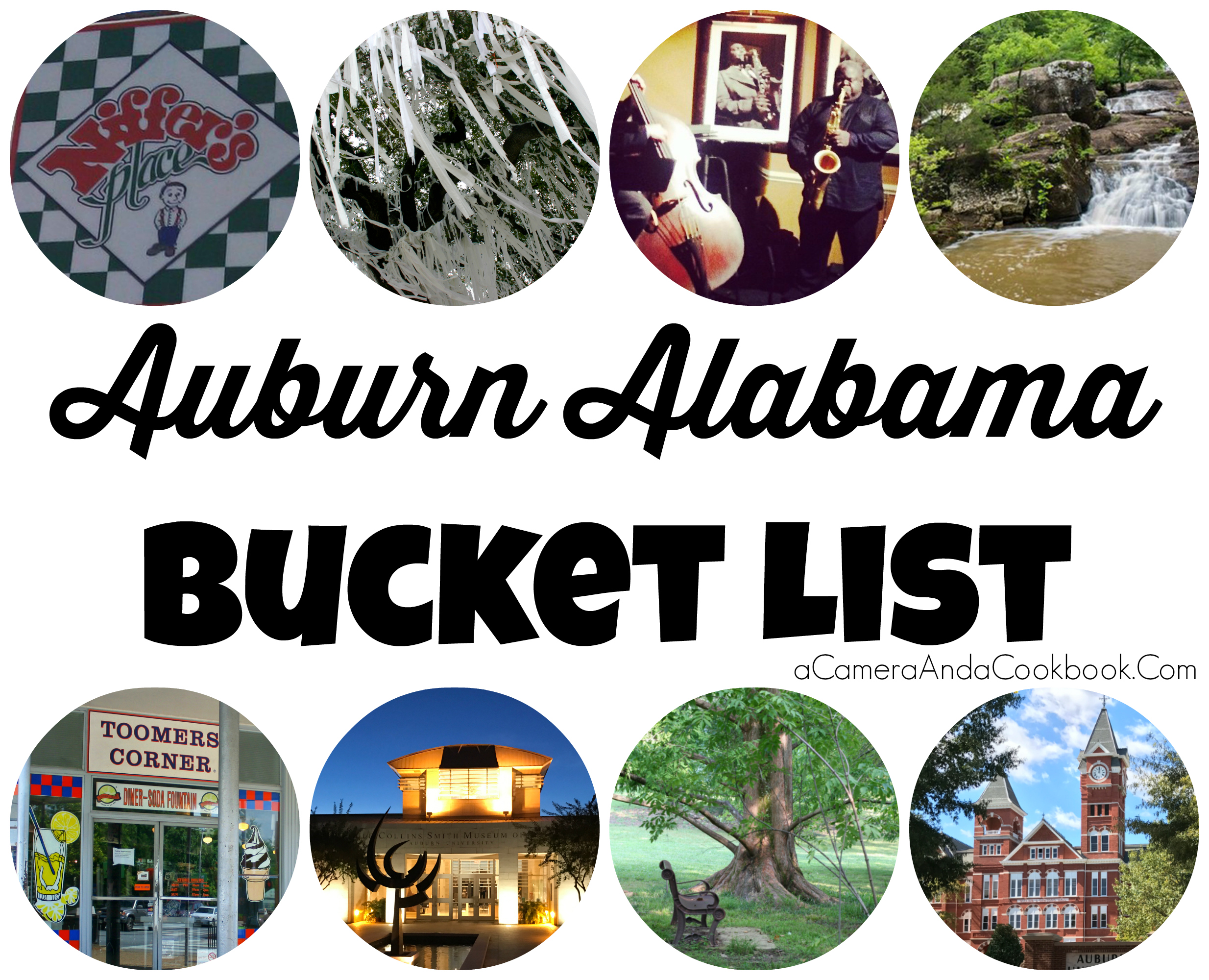 Auburn Alabama Bucket List - Here's a list of THE things to do while visiting this great college town!