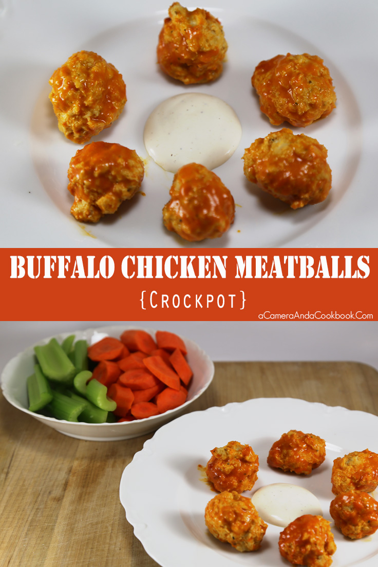 Buffalo Chicken Meatballs - Crockpot - These Buffalo Chicken Meatballs are so easy and can be made in the crockpot. You can also make them ahead of time and freeze and just double the crockpot time. Perfect for parties or potluck dinners.