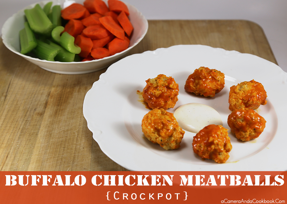 Buffalo Chicken Meatballs - Crockpot These Buffalo Chicken Meatballs are so easy and can be made in the crockpot. You can also make them ahead of time and freeze and just double the crockpot time. Perfect for parties or potluck dinners.