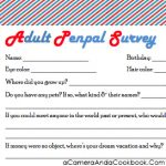Adult Penpal Survey