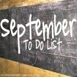 September To Do List