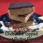 Chocolate Topped Peanut Butter Blondies