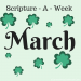 Scripture a Week for March