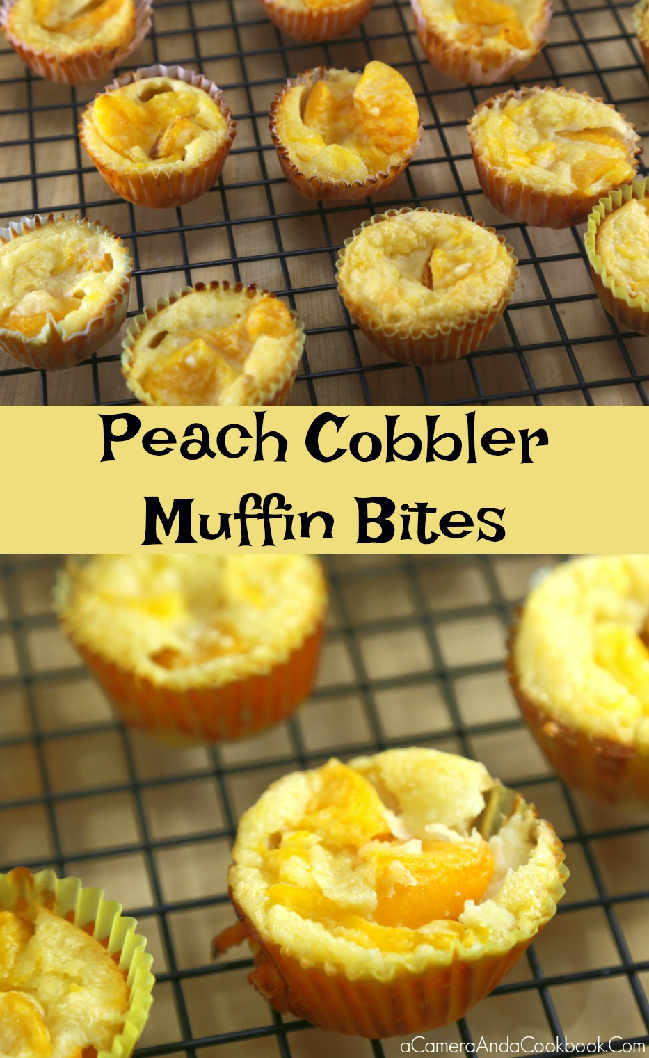 Peach Cobbler Muffin Bites