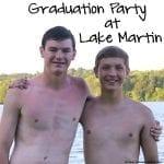 Graduation Party at Lake Martin