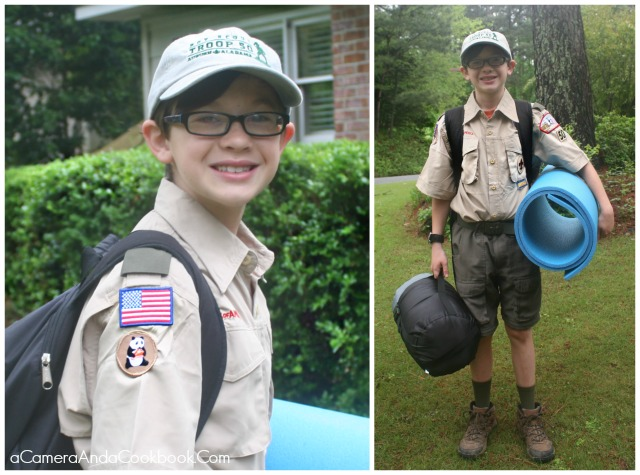 Alex's 1st Camp Out as a Boy Scout