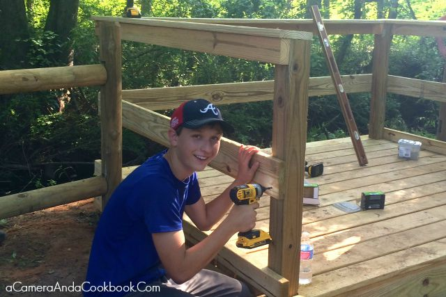 Drew's Eagle Scout Project Work Day