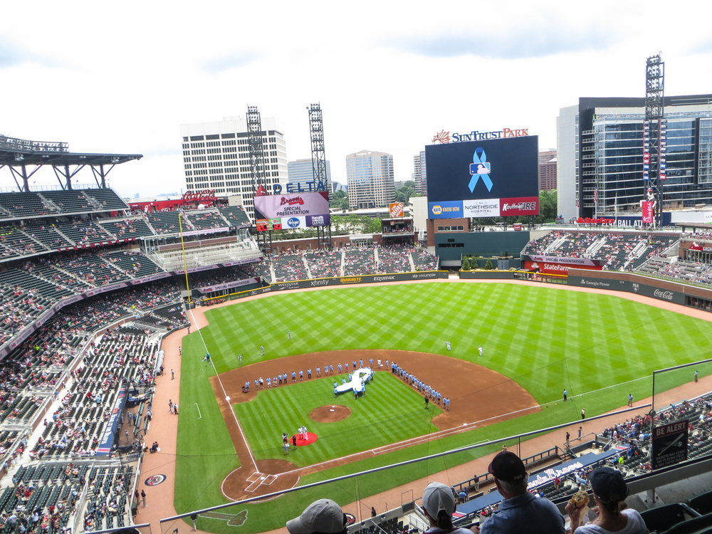 Visit to the New Braves Stadium on Father's Day - SunTrust Park