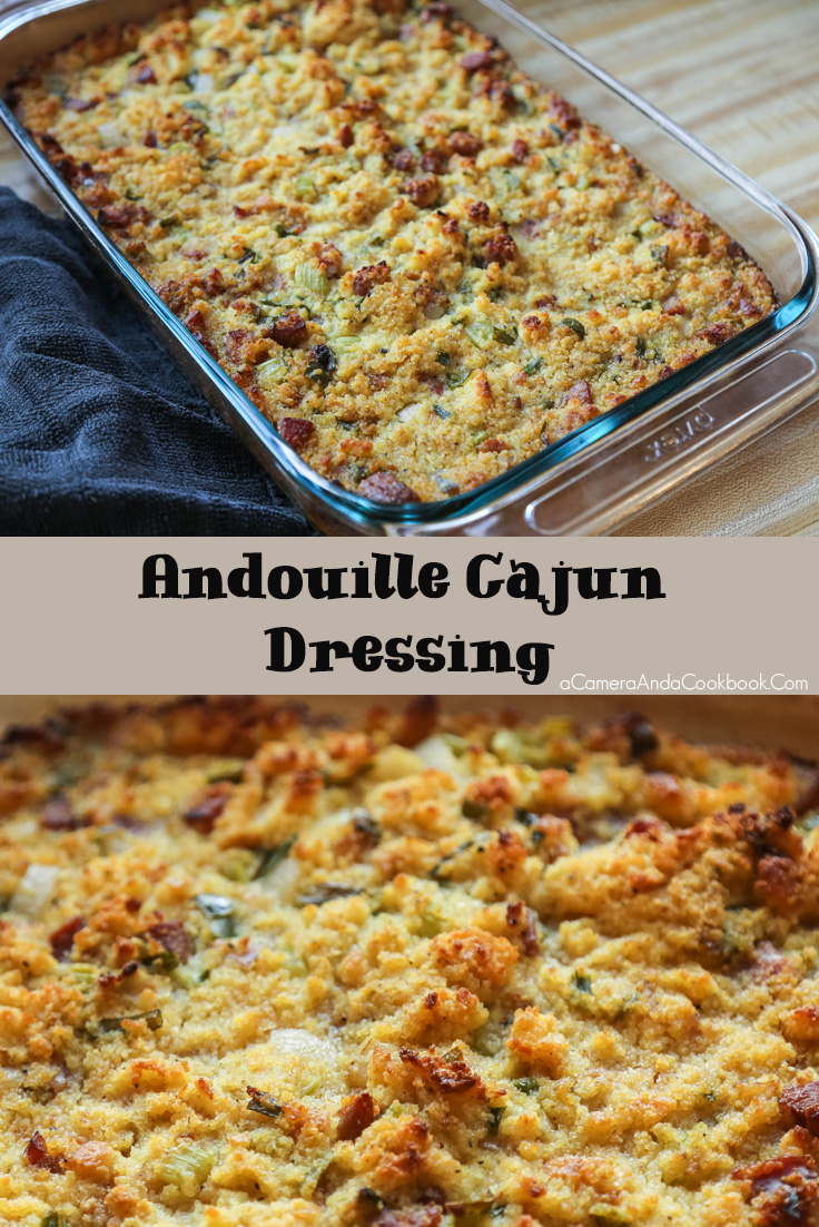 Andouille Cajun Dressing - This Andouille Cajun Dressing is good with any turkey and gravy or even a ham for your next holiday meal. Christmas or Thanksgiving will be better with this recipe!