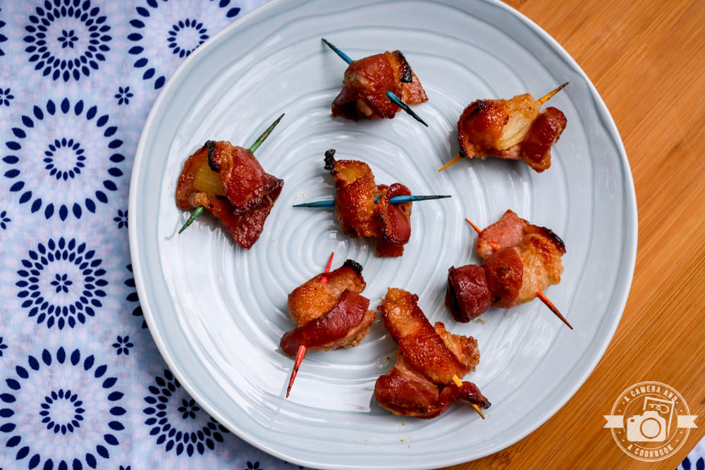 Spicy Bacon Wrapped Pineapple Bites