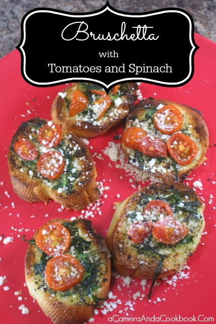 Bruschetta with Tomatoes and Spinach