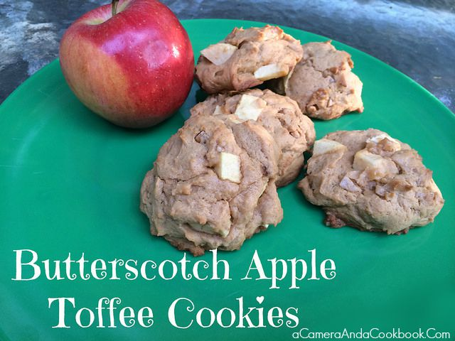 Butterscotch Apple Toffee Cookies