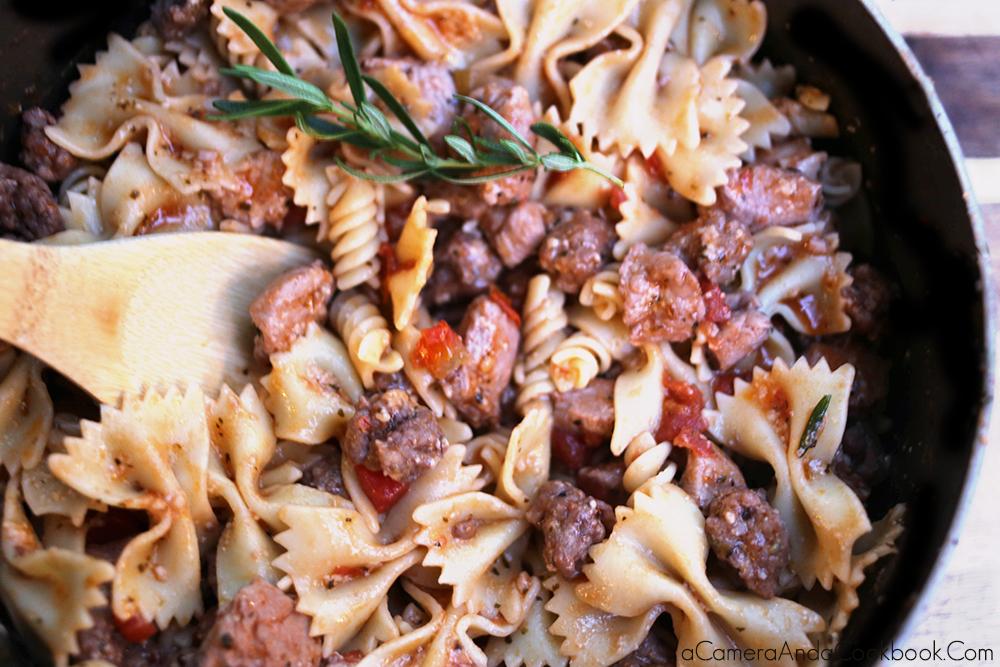 Chicken & Sausage Bowtie Pasta