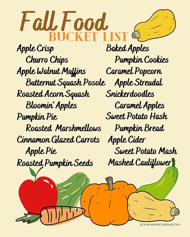 Fall Food Bucket List - PDF