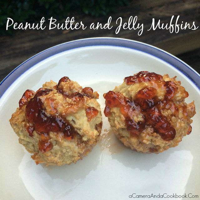 Peanut Butter and Jelly Muffins - So easy and yummy, perfect for an afternoon snack!