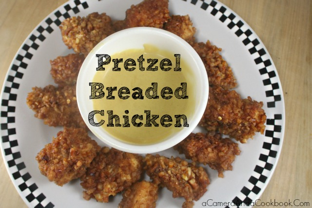 Pretzel Breaded Chicken Fingers - Looking for a new way to bread your chicken fingers?  This Pretzel Breaded Chicken is so easy and makes for a wonderfully crunchy batter.
