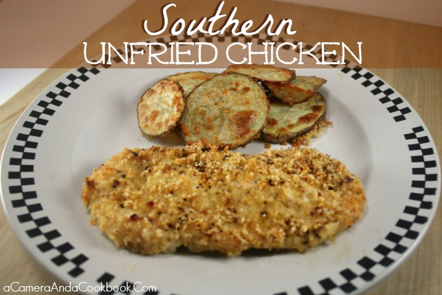 Looking for a healthier way to cook Fried Chicken?  This Southern Unfried Chicken is so tasty you'll never know it wasn't fried!