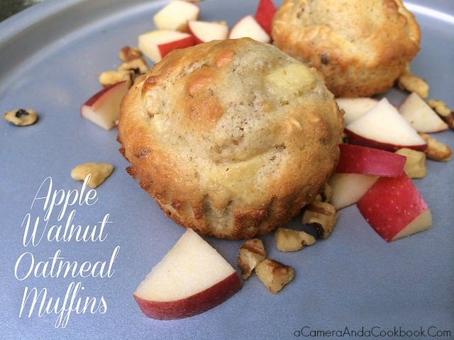 Apple Walnut Oatmeal Muffins