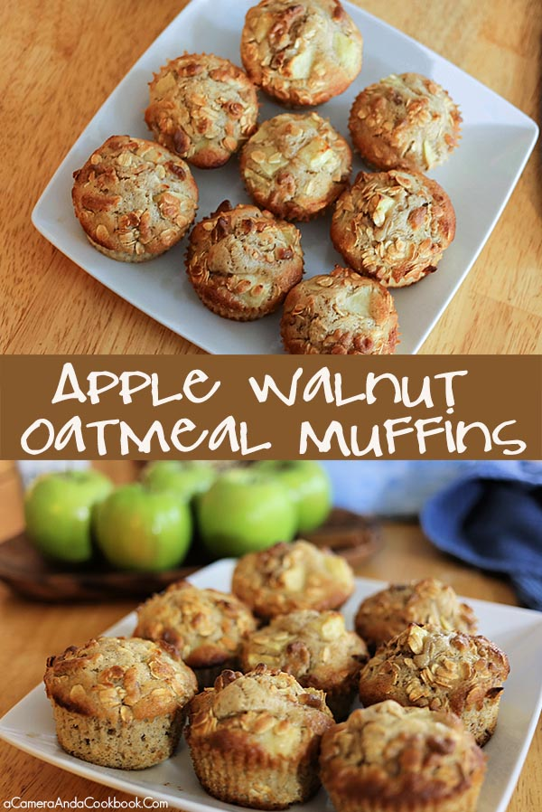 Apple Walnut Oatmeal Muffins - Super easy and super delicious!