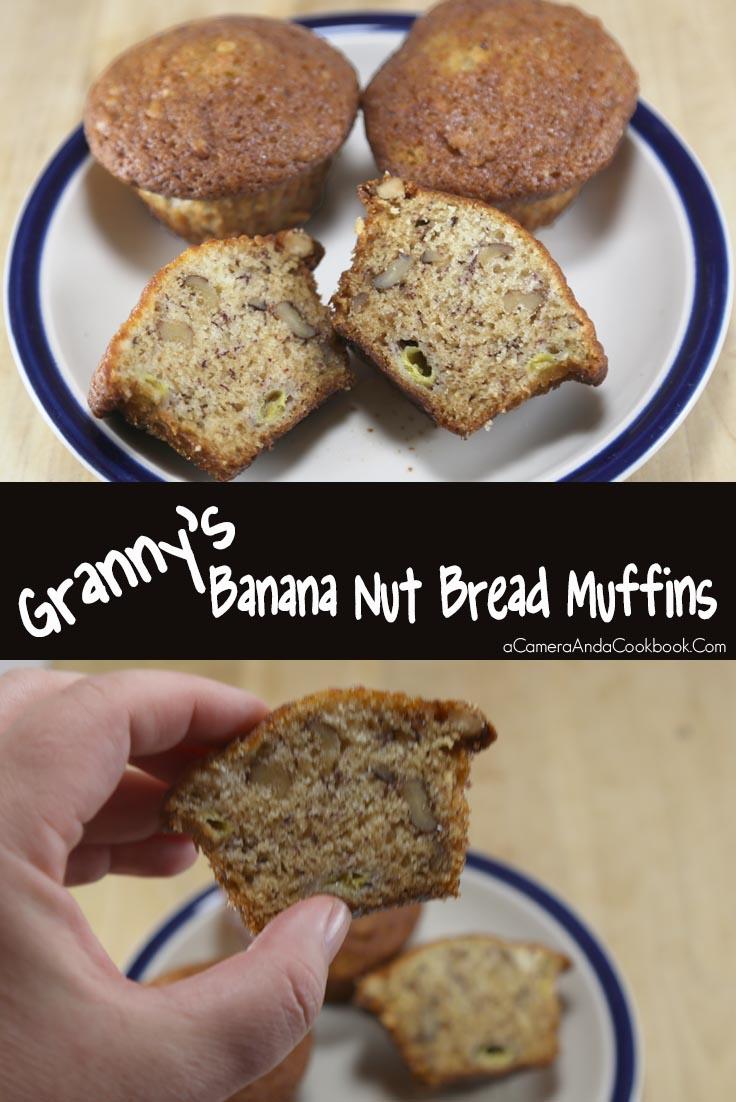 Banana Nut Bread Muffins