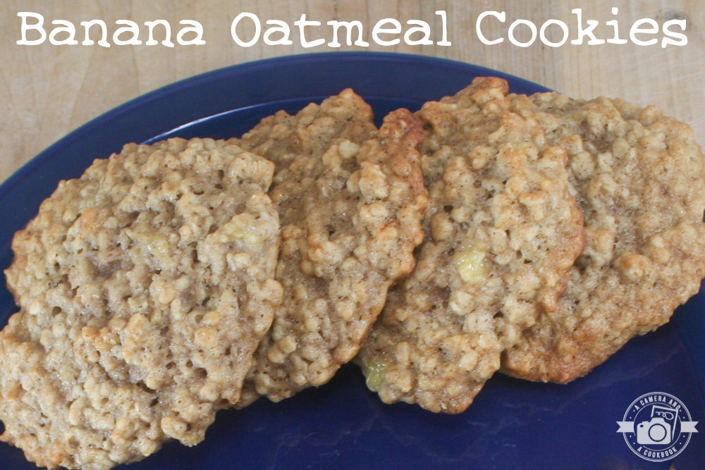 Banana Oatmeal Cookies - These cookies are a nice change to the everyday oatmeal or chocolate chip cookies.