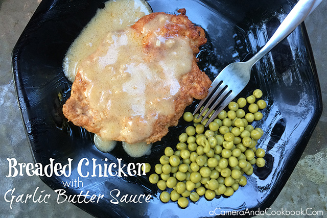 Breaded Chicken & Garlic Butter Sauce