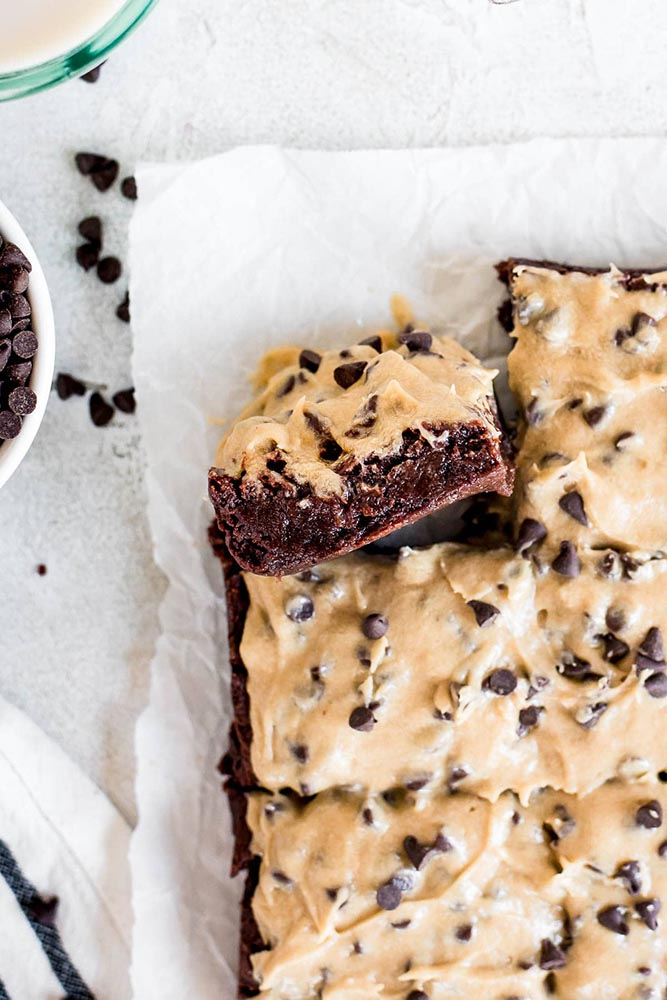 Cookie Dough Brownies from Cookie Named Desire