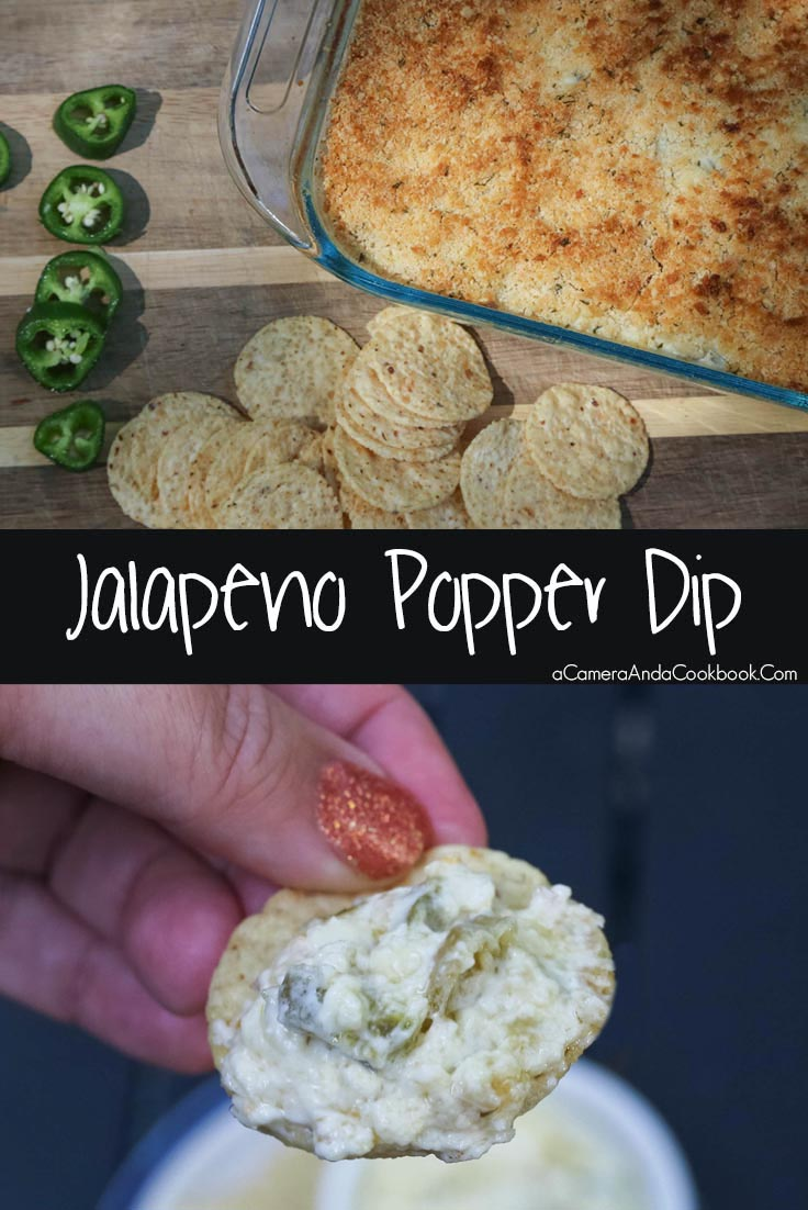 Jalapeno Popper Dip - Great for tailgates or potlucks. Make it for Saturday college football game day and easily reheat it on Sunday for the NFL games.