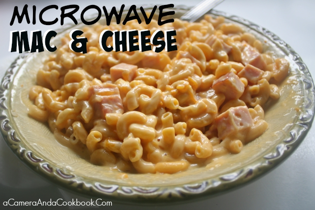 Microwave Mac & Cheese - Need a quick side and don't have room on your stove top?  This Microwave Mac & Cheese is the perfect solution!