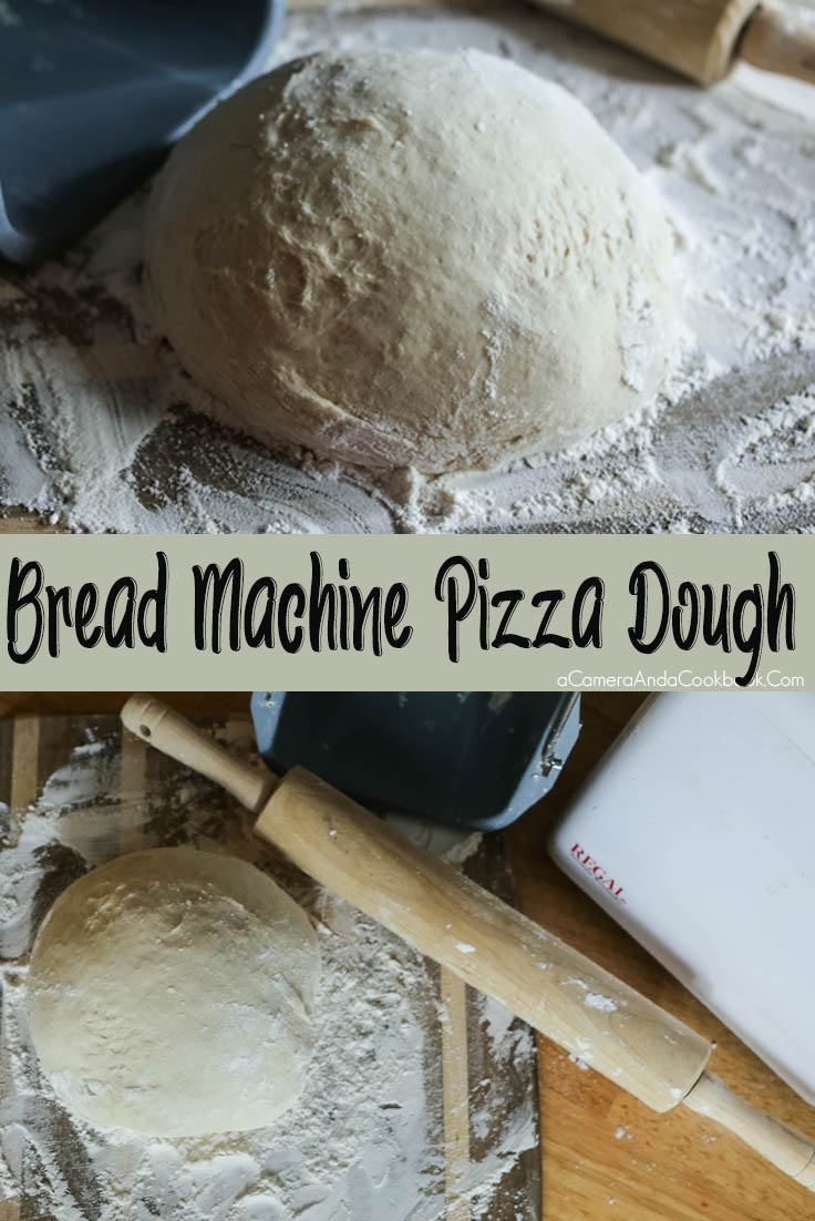 Pizza Dough You Can Toss {Bread Machine} - This bread machine Pizza Dough is easy and so good. It's also dough you can throw and toss just like the professionals.