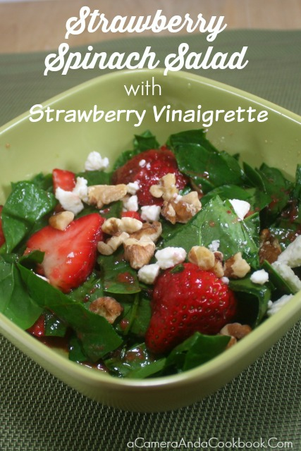 Strawberry Spinach Salad with Strawberry Vinaigrette