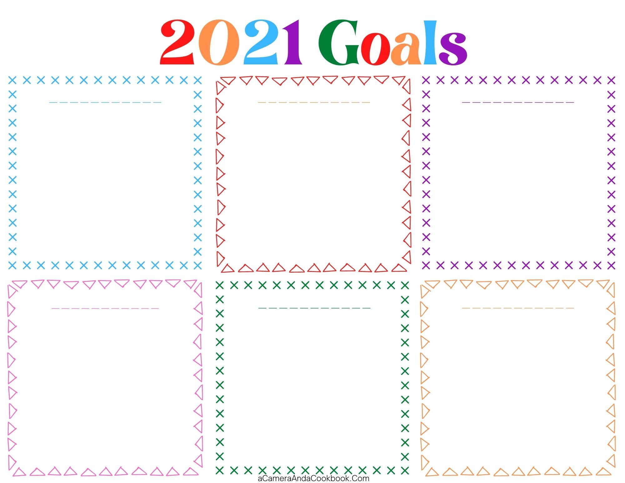2021 Goals Color Blank - PDF